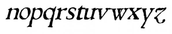 1543 Humane Jenson Italic Font LOWERCASE