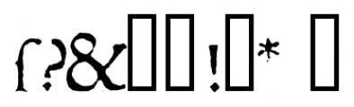 1543 Humane Jenson Normal Font OTHER CHARS