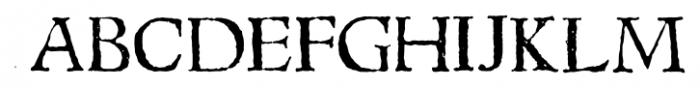 1543 Humane Jenson Normal Font UPPERCASE