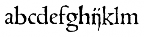 1543 Humane Jenson Normal Font LOWERCASE