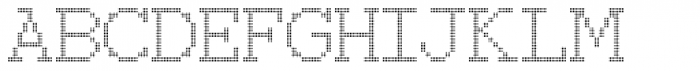 150 Dotted Font UPPERCASE