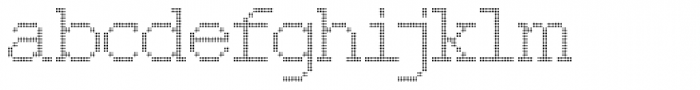 150 Dotted Font LOWERCASE