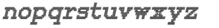 150 Lined Italic Font LOWERCASE