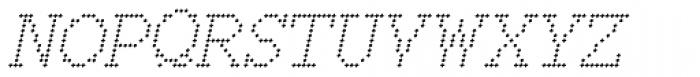 150 Square Italic Font UPPERCASE