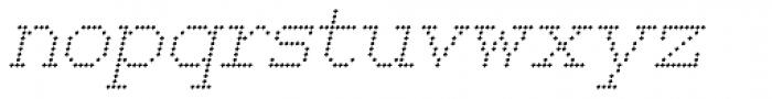 150 Square Italic Font LOWERCASE