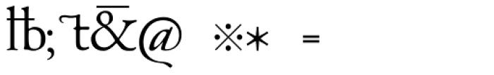 1530 Garamond Archaics Font OTHER CHARS