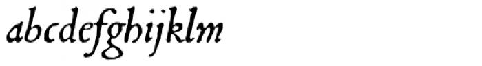 1545 Faucheur Italic Font LOWERCASE