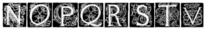 1585 Flowery Font UPPERCASE
