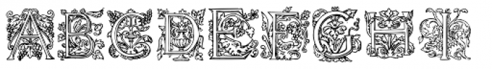 1585 Flowery Font LOWERCASE