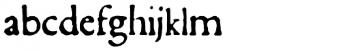 1590 Humane Warszawa Font LOWERCASE