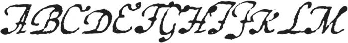 1648 Chancellerie otf (400) Font UPPERCASE