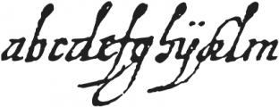 1648 Chancellerie otf (400) Font LOWERCASE
