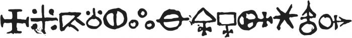 1651 Alchemy symbols otf (400) Font UPPERCASE