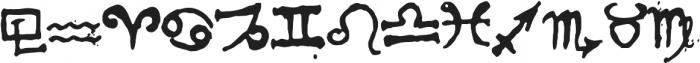 1651 Alchemy symbols otf (400) Font LOWERCASE