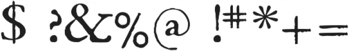 1669 Elzevir otf (400) Font OTHER CHARS