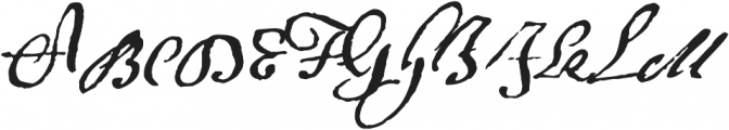 1695 Captain Flint Ru otf (400) Font UPPERCASE