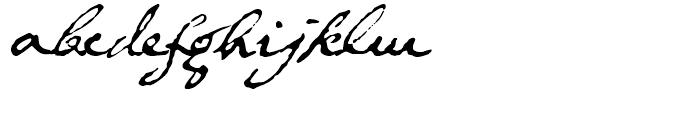 1634 Rene Descartes Normal Font LOWERCASE