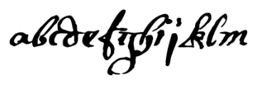 1695 Captain Flint Regular Font LOWERCASE