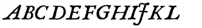 1689 GLC Garamond Pro Italic Font UPPERCASE