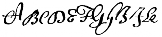 1695 Captain Flint Font UPPERCASE