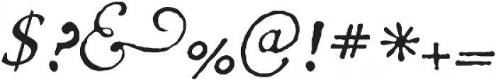 1741 Financiere otf (400) Font OTHER CHARS