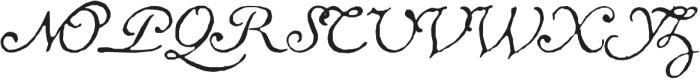 1741 Financiere otf (400) Font UPPERCASE