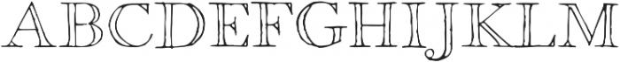 1751 GLC Copperplate Outline otf (400) Font UPPERCASE