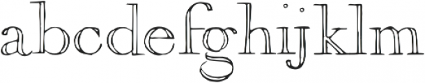 1751 GLC Copperplate Outline otf (400) Font LOWERCASE