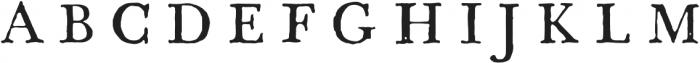 1785 GLC Baskerville otf (400) Font UPPERCASE