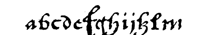 1742Frenchcivilite Font LOWERCASE