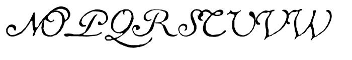 1741 Financiere Italic Font UPPERCASE