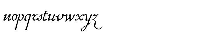 1741 Financiere Italic Font LOWERCASE