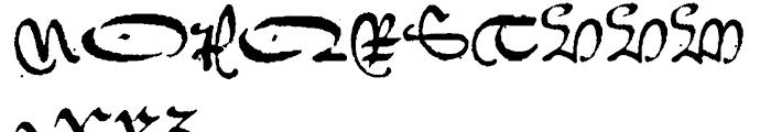 1742 Civilite Regular Font UPPERCASE