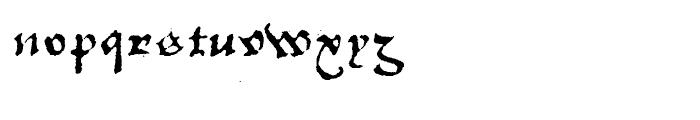 1742 Civilite Regular Font LOWERCASE