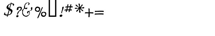 1786 GLC Fournier Narrow Italic Font OTHER CHARS