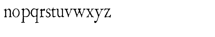 1786 GLC Fournier Narrow Normal Font LOWERCASE