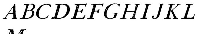 1790 Royal Printing Caps Normal Italic Font UPPERCASE