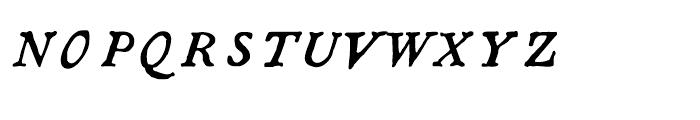 1790 Royal Printing Caps Normal Italic Font LOWERCASE