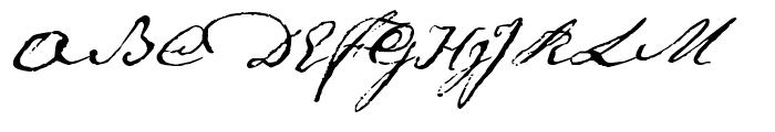 1791 Constitution Regular Font UPPERCASE