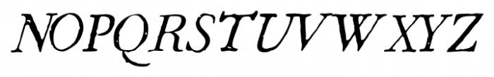 1786 GLC Fournier Italic Font UPPERCASE