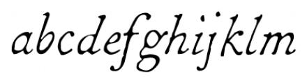 1786 GLC Fournier Italic Font LOWERCASE