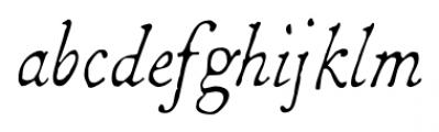 1786 GLC Fournier Narrow Italic Font LOWERCASE