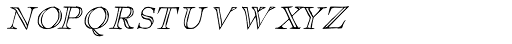 1751 GLC Copperplate Outline Small Caps Font LOWERCASE