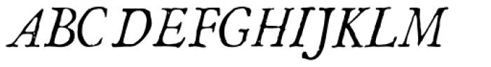 1786 GLC Fournier Narrow Italic Font UPPERCASE