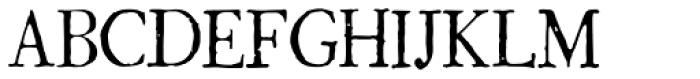 1786 GLC Fournier Narrow Normal Font UPPERCASE