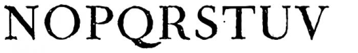 1790 Royal Printing Caps Normal Font UPPERCASE
