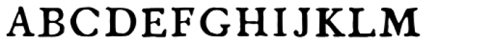 1790 Royal Printing Caps Normal Font LOWERCASE