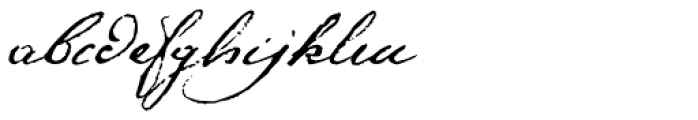 1791 Constitution Font LOWERCASE