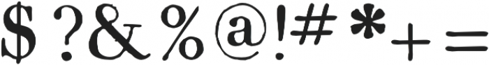 1820 Modern otf (400) Font OTHER CHARS