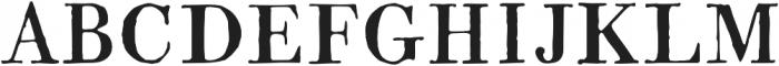 1820 Modern otf (400) Font UPPERCASE